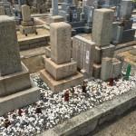 春日野墓地にて霊標板を新設しました
