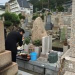 春日野墓地にて納骨式の立会いさせていただきました