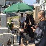 中勝寺墓地にてI家、開眼式と納骨いたしました。