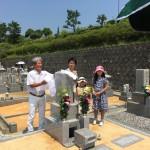 城ケ丘墓地にてS家のお墓を建てさせていただきました