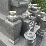 庵治石細目の墓石を建てました in 坊勢島