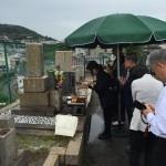 平野墓地にて納骨式の立会いさせていただきました