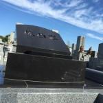 姫路市名古山霊園にて洋型墓石を建立しました