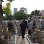 中勝寺で納骨式の立会させていただきました。