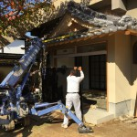 尼崎、法園寺さんにて玄関の石張り工事させていただきました