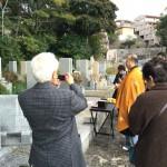 荒神山墓地にて納骨式の立会をさせていただきました。