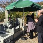 白水峡公園墓地にて洋型墓石に建て替え予定