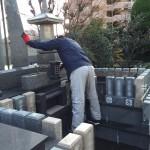 法泉寺永代供養墓のお掃除とコーティング施工してきました。
