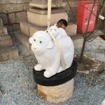 来年は申年です!干支の石像を神社に設置しました
