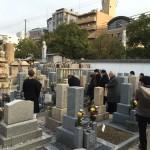 中勝寺墓地にて納骨式