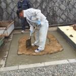 芦屋霊園にてお墓の基礎工事