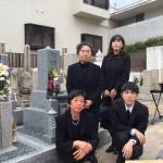 中勝寺墓地、大島石の特級にて墓石を建立しました