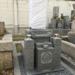 中勝寺墓地にて大島石の和墓8寸建立しました