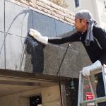 御影山手にて外壁、石材タイルのメンテナンス工事