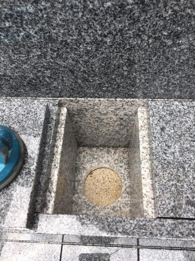 石碑の下部にご契約者様専用の納骨スペースがあります