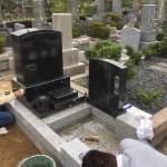 石屋墓園、洋型の墓石を建立させていただきました。