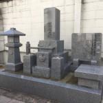中勝寺墓地にて庵治石でお墓を建てました