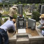 鵯越墓園にてお墓のリフォーム修理