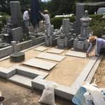 鵯越墓園にてお墓の修理&雑草対策