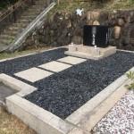 芦屋霊園で雑草対策の固まる土の施工に行って来ました。