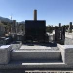 白水狭公園墓地にて新しく洋型のお墓を建立
