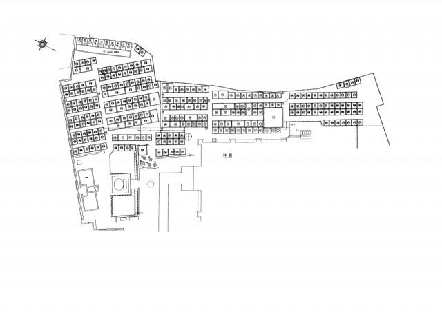中勝寺墓地マップ