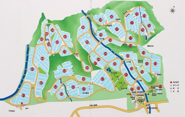 芦屋霊園区画地図