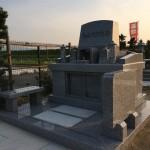 富山墓苑にて新規墓石工事完成しました