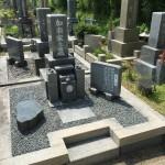 鵯越墓園にて墓石のリフォーム修理工事