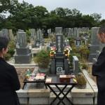 神戸市北区鵯越墓園にて納骨式のお手伝い