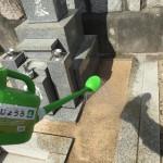 お墓の雑草対策ジオミックス施工してきました