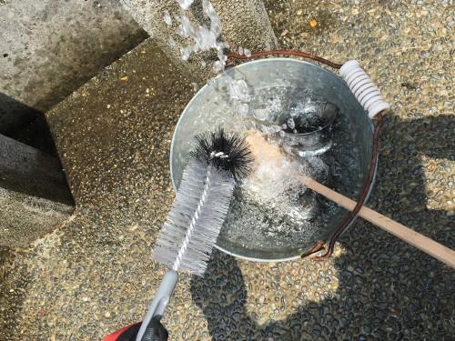 花立ての洗浄
