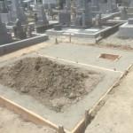加茂墓地公園にて基礎工事完了しました