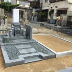 加茂墓地にてお墓建立&納骨式させていただきました