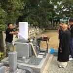 福崎町村墓地で開眼、納骨式の立会させていただきました。