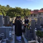 森共同墓地にて納骨させていただきました