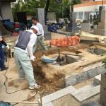 東明桜ヶ丘霊苑にてお墓の撤去・解体工事しました。