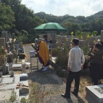 鵯越墓園にて墓じまいの閉眼式の立会させていただきました。