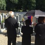 尼崎廣済寺墓地にてお墓の文字彫り&納骨式させていただきました。