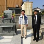 富山県にて洋型墓石建立しました