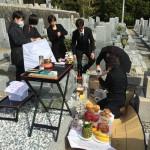 大阪、能勢の墓地にてお墓を建立&開眼式の立会させていただきました