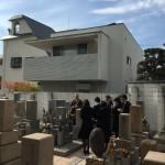 中勝寺、寺院墓地にて納骨式の立会させていただきました。