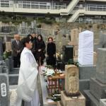 春日野墓地にて神道型の墓石を建立しました。