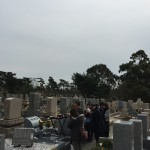 舞子墓園にて納骨式の立会をさせていただきました。
