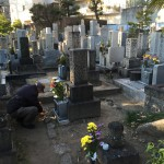 魚崎墓地で工事の準備始めました