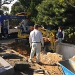 舞子墓園にてお墓の解体工事