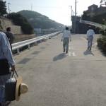 坊勢島(ぼうぜじま)へお墓の工事に行きました。