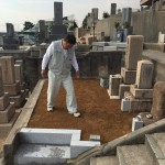 神戸市灘区の東明桜ヶ丘墓地にてお墓のリフォーム工事