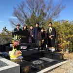 西宮市市営の白水峡墓地にてオリジナルデザイン墓石が完成