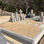 芦屋市営、芦屋霊園にて雑草対策のジオミックス施工